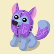 Item Exclusive Arctic Wolf Plushie purple
