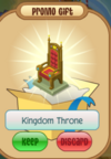 Kingdom throne