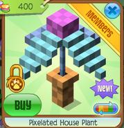 Pixelated house plant