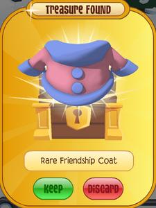 Rare Friendship Coat Treasure Chest
