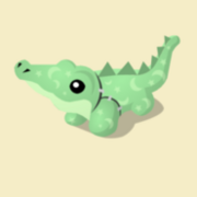 Item Exclusive Crocodile Plushie green
