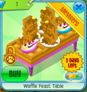 Waffle Feast Table Pink