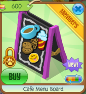 Cafe menu board 4
