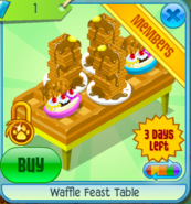 Waffle Feast Table Yellow