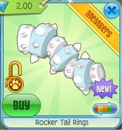 White Rocker Tail Rings