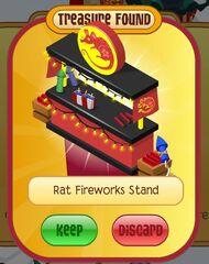 Rat fireworks stand