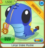 Large-Snake-Plushie Blue Shop