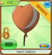Orange Heart Balloon