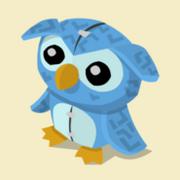 Item Exclusive Owl Plushie blue