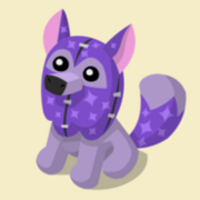 Item Exclusive Arctic Wolf Plushie purple-star