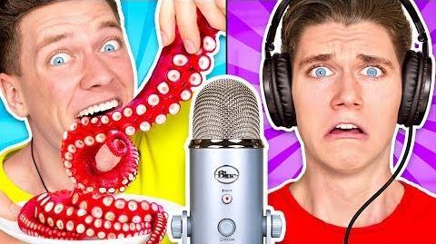 Guess That ASMR Sound w Octopus, Raw Honeycomb, DIY Slime & Aloe Vera Challenge