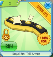 Royal Bee Tail Armor