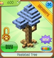 Shop Pixelated-Tree Blue