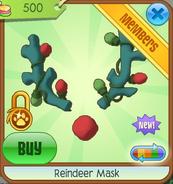 Green Reindeer Mask