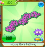 Mossy Stone Pathway pink
