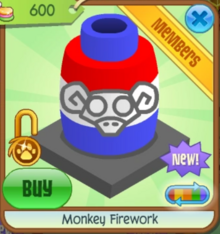 Monkey firework blueredn