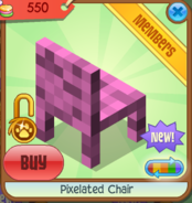 Pixelated Chair pink back