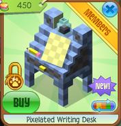 Pixelated writing desk 1