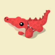 Item Exclusive Crocodile Plushie red