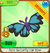 Butterfly hair bow rare