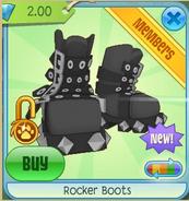 Grey Rocker Boots