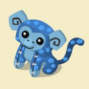 Item Exclusive Monkey Plushie blue-flower
