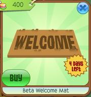 Beta welcome mat