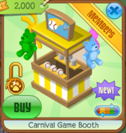 Carnival Game Booth Yellow
