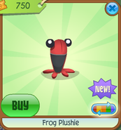 Frog-Plushie Red Shop