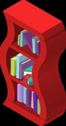 Wavy Bookshelf Red