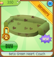 Beta Green Heart Couch