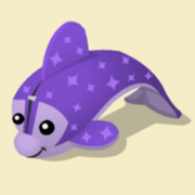 Item Exclusive Dolphin Plushie purple-star