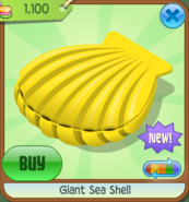 EW Giant Sea Shell yellow