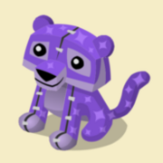 Item Exclusive Tiger Plushie purple-star