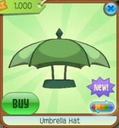 Umbrella Hat green