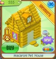 Macaroni pet house