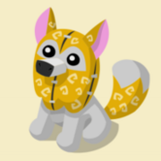 Item Exclusive Arctic Wolf Plushie yellow