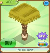 Tall Tiki Table Straw
