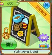 Cafe menu board 3