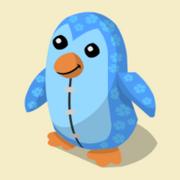 Item Exclusive Penguin Plushie blue-flower
