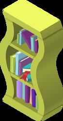 Wavy Bookshelf Yellow