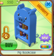 PigBookcaseBlue