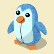 Item Exclusive Penguin Plushie blue