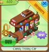 Candy trolley car