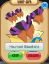 Haunted gauntlets