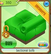 Section Sofa Green Backwards