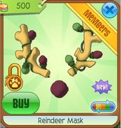 Yellow Reindeer Mask