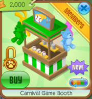 Carnival Game Booth Green