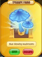 Blue Glowing Mushrooms