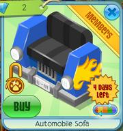 Automobile Sofa Blue